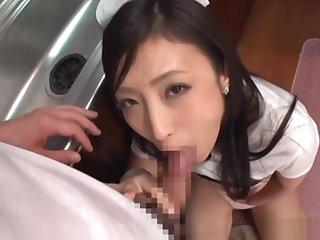 Pov scene of wild blowjob session involving kinky Asian beauty